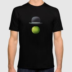 Apple 14 Black MEDIUM Mens Fitted Tee