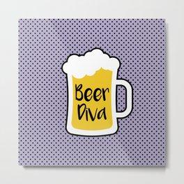 Beer Diva Metal Print