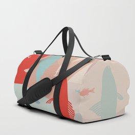 California Pastel Fish Duffle Bag