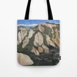 Boulder Flatirons (aerial view) Tote Bag