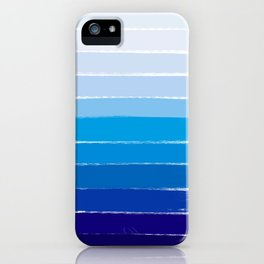 Kent - blue ombre brush strokes art iPhone Case