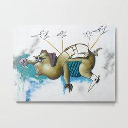 Street Pig Metal Print
