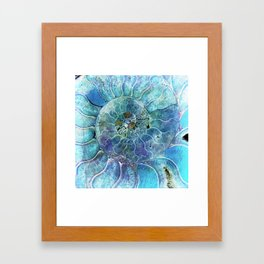 Aqua seashell - mother of pearl - Beautiful backdrop Framed Art Print