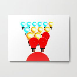 THE MARCH OF THE LIGHTBULBS Metal Print