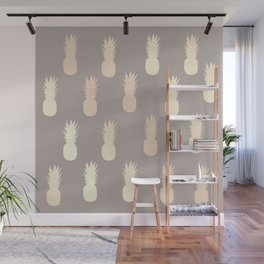 Pretty gold pineapple pattern Wall Mural