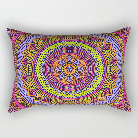 Hippie mandala 56 Rectangular Pillow
