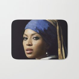 Bey with a Pearl Earring Bath Mat