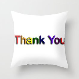 Colorful Thank You Throw Pillow