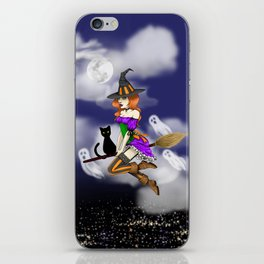 Spooky Witch Girl iPhone Skin
