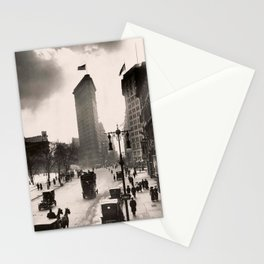 Vintage Photograph of The NYC Flat Iron Building 2 Stationery Cards