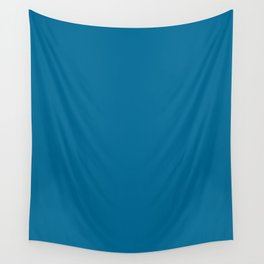 Sea blue - solid color Wall Tapestry