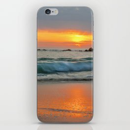 Golden sunset with turquoise waters iPhone Skin