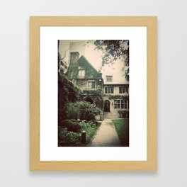 Courtyard Building Color Photo Framed Art Print