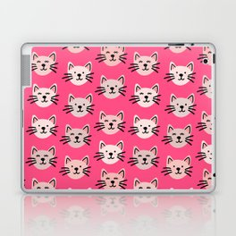 Cute cat pattern in pink Laptop & iPad Skin