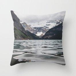 Lake Louise Mountain View Throw Pillow
