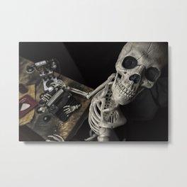Mr Halloween Skeleton Metal Print