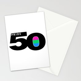 50 Pride Polysexual Pride Flag Stationery Cards