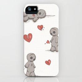 Broken hearted Voodoo Dolls iPhone Case