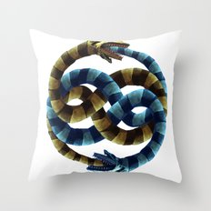 The Never Ending Sand Worm Throw Pillow