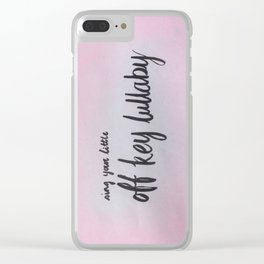 Off Key Lullaby Clear iPhone Case