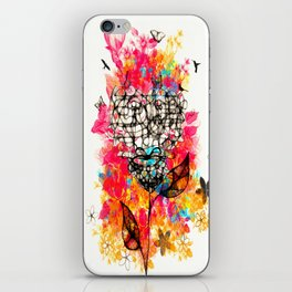 Abstract flower's face, colors iPhone Skin
