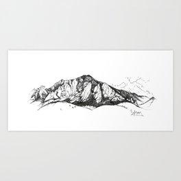 """Flatirons in Ink"" Art Print"