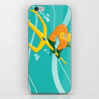aquaman iPhone & iPod Skins featuring King of Atlantis by joshWenrick