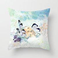 mushroom Throw Pillows featuring mushroom by ARTION
