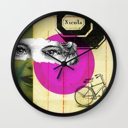 Play hide and seek with petit Nicola Wall Clock