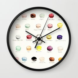 laduree macaron menu Wall Clock