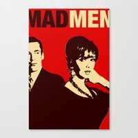mad men Canvas Prints featuring Mad Men by Kenny the Bearded