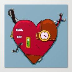 Robot Heart Canvas Print
