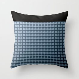 Black and blue polka dot pattern . Throw Pillow