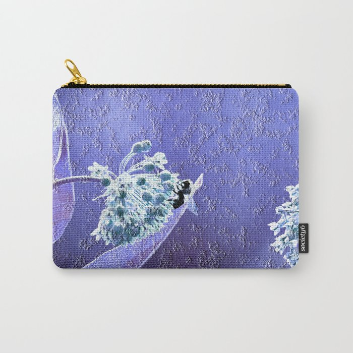 Blooming in the sky (blue-purple granite) Carry-All Pouch