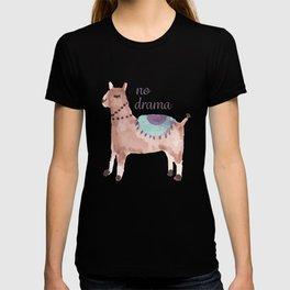 No drama llama cute watercolor llama T-shirt