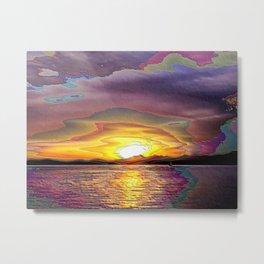 Plum Sunset Over Elliott Bay Metal Print