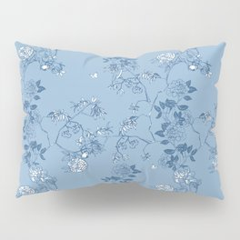 Chinoiserie in China Blue Pillow Sham