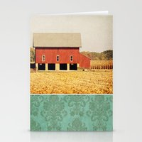 american beauty Stationery Cards featuring Heartland by Farmhouse Chic