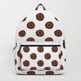 """Red Daisy, (pattern)"" Backpack"