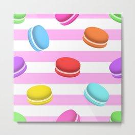 Happy macaron pattern Metal Print