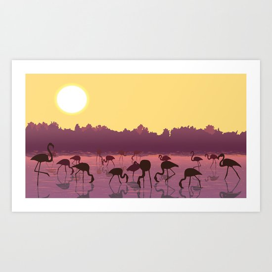 Dance Of The Flamingo Art Print