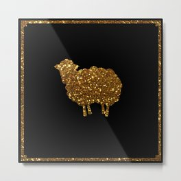 Golden sheep you are special  Metal Print