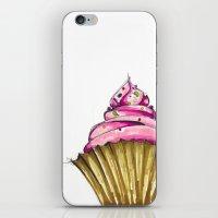 cupcake iPhone & iPod Skins featuring Cupcake by Svitlana M