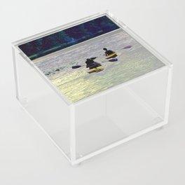 Twilight Kayaking Beach Lake, PA Acrylic Box