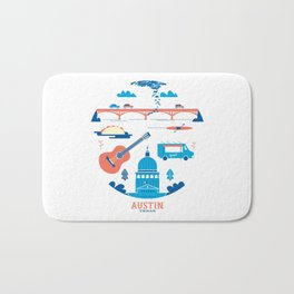 Love Letter to Austin, Texas Bath Mat