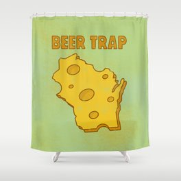 Beer Trap Shower Curtain
