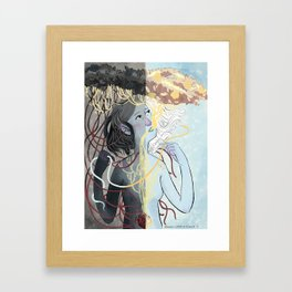 Dark and Light Framed Art Print