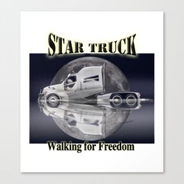 Star Truck - The moon and the Truck Canvas Print