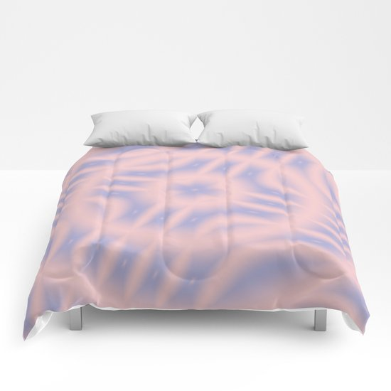 Spacial Coordinates in Rose Quartz and Serenity Comforters