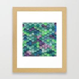 Honeycomb hexagonal Framed Art Print
